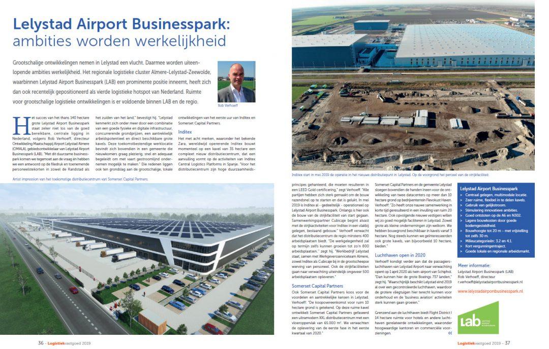 Lab in Het magazine Logistiek Vastgoed Nederland 2019