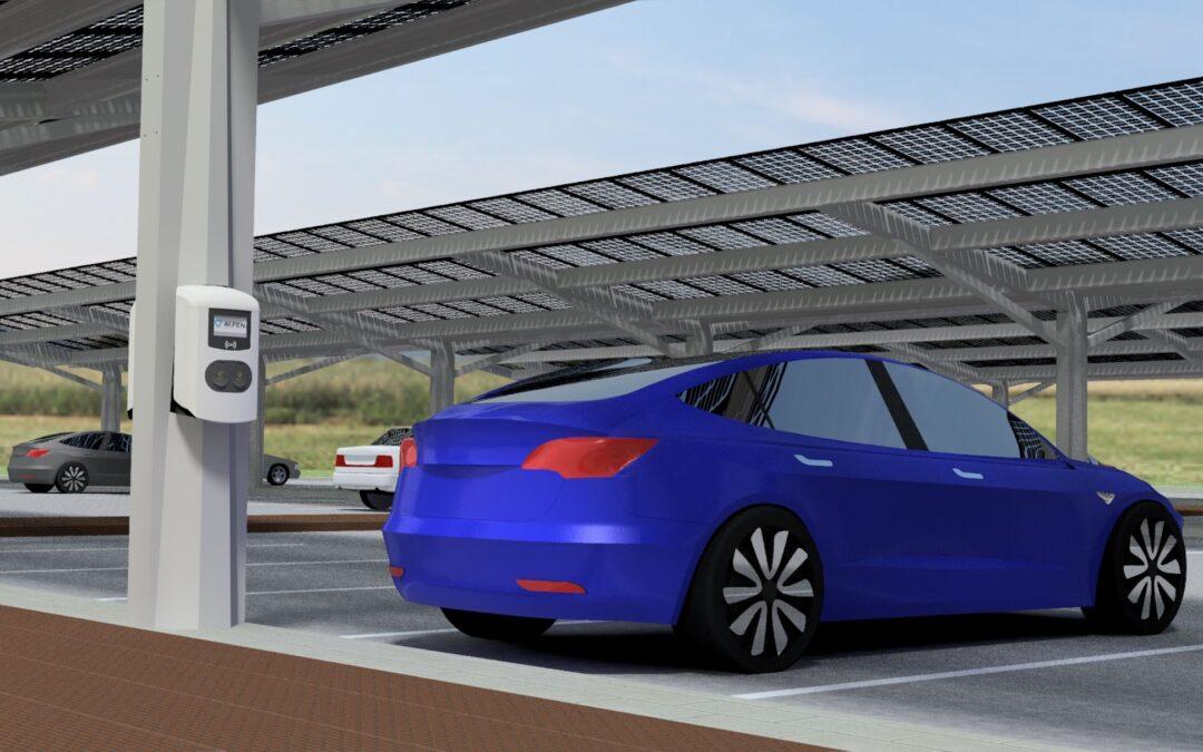 Slim duurzaam energiesysteem op parkeerterrein van gemeentehuis Dronten
